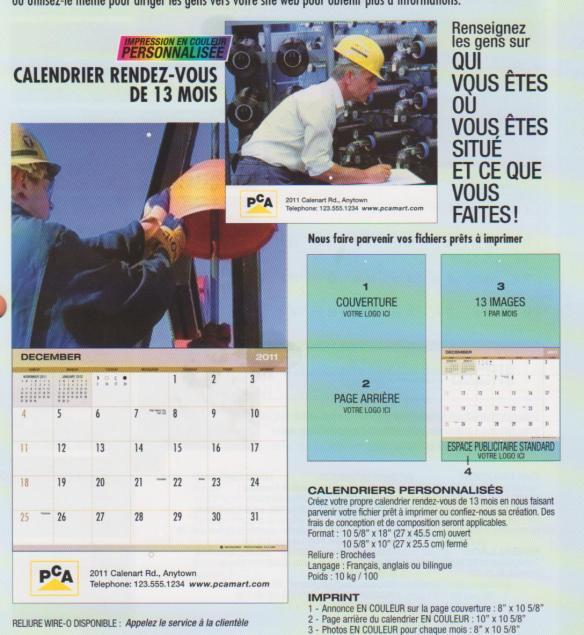 calendrier 2012 personalisé