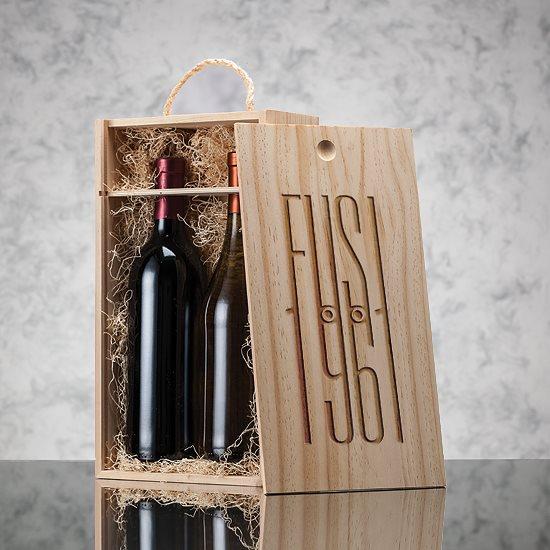 coffret bois 1 bouteille de vin