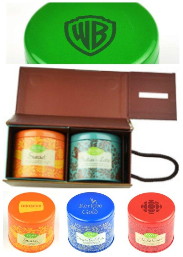 Ensemble cadeau thés personnalisé avec logo