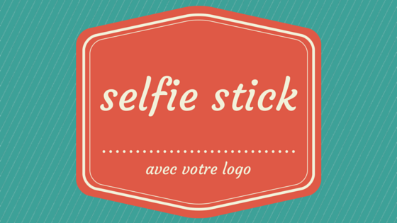 selfie stick avec logo