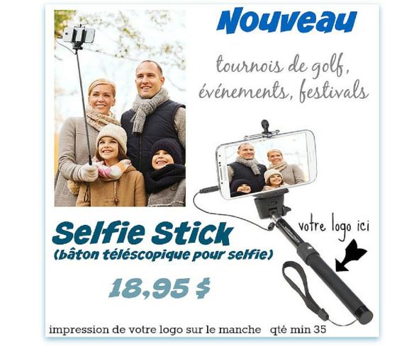 Selfie Stick avec votre logo